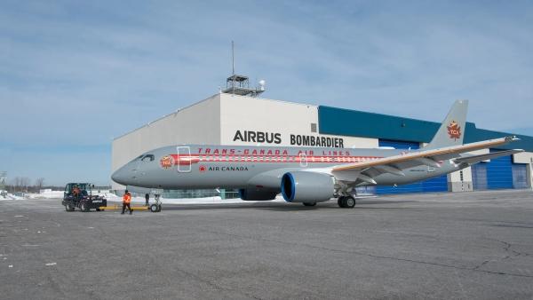 Air Canada – Airbus A220 Trans-Canada Air Lines livery