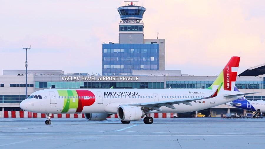 TAP Air Portugal dnes obnovil linku z Prahy do Lisabonu