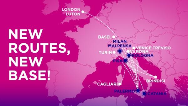 Wizz Air otevírá novou bázi v Palermu
