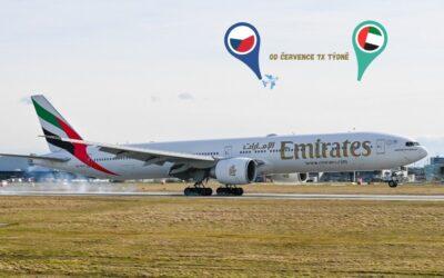 Od července s Emirates z Prahy do Dubaje každý den