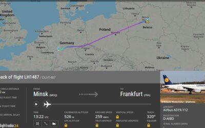 Běloruské úřady pozastavily odlet Lufthansy do Frankfurtu