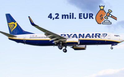 Ryanair dostal 4,2 milionu EUR pokutu za nevrácení peněz
