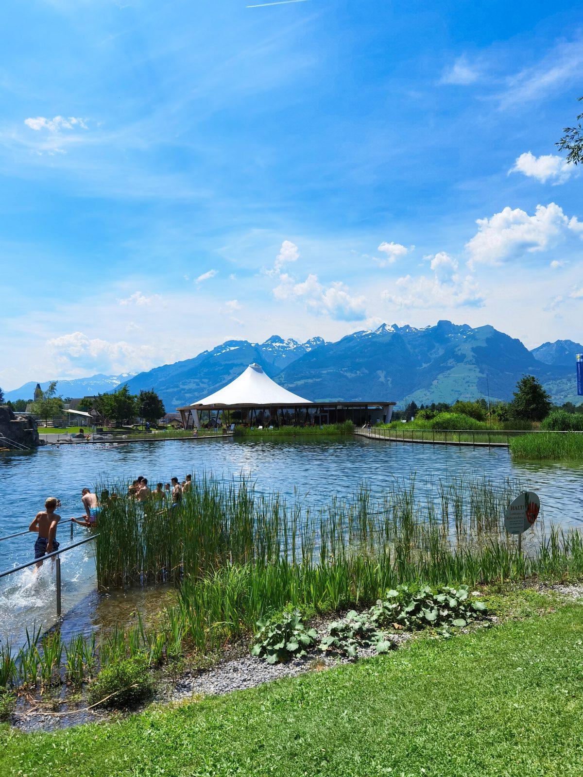 Jezero ke koupání Grossabünt