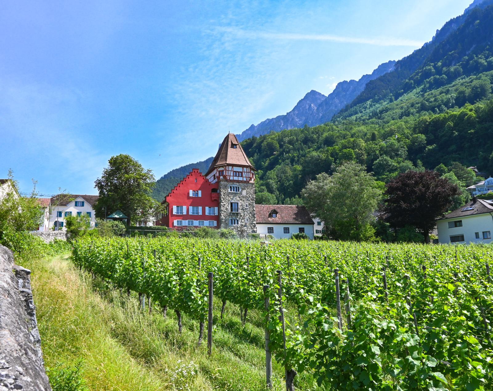 Červený dům ve Vaduzu