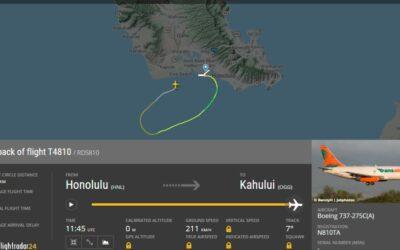 Nákladní letoun Boeing 737 nouzově přistál v Tichém oceánu u Honolulu