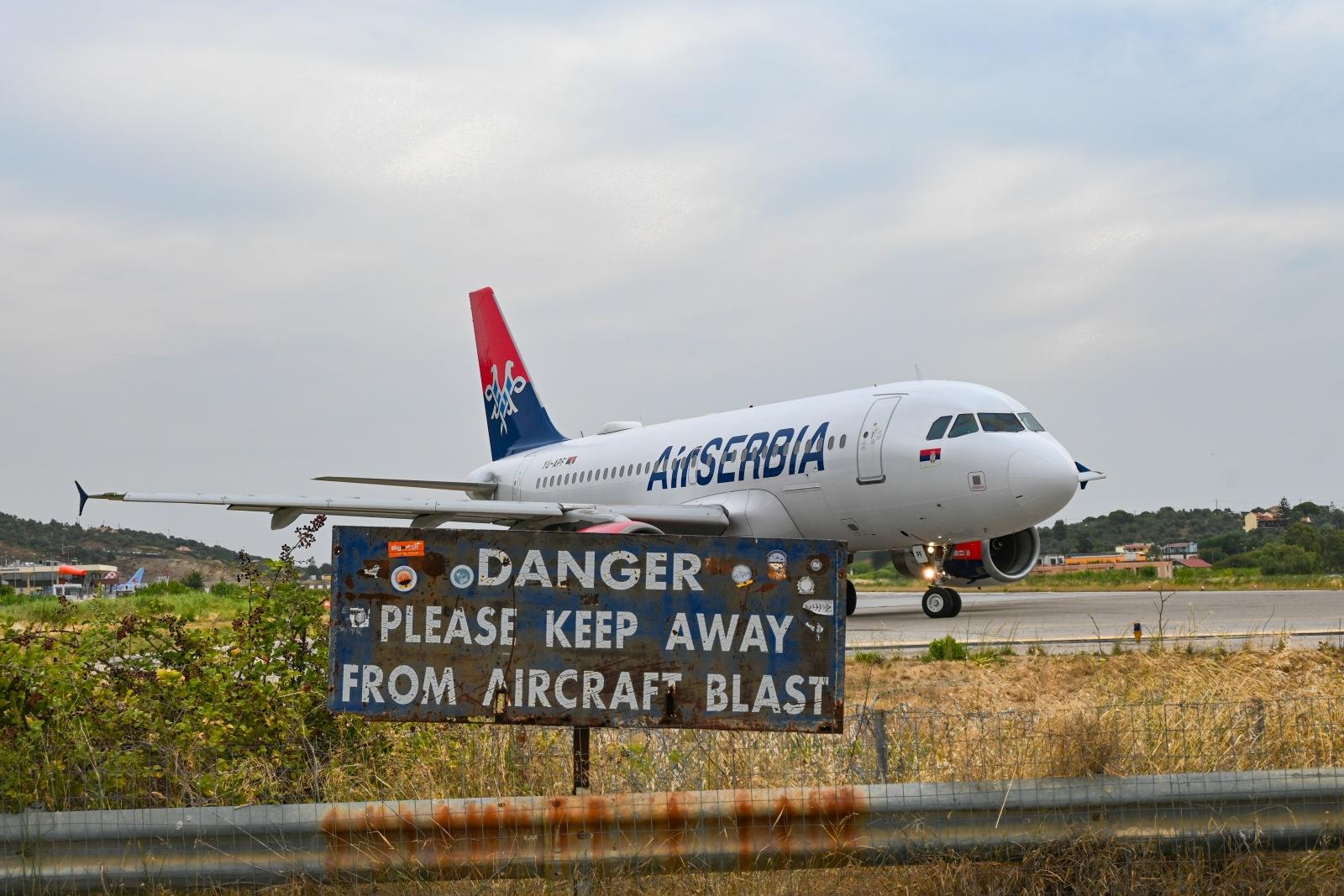Skiathos Airport Air Serbia
